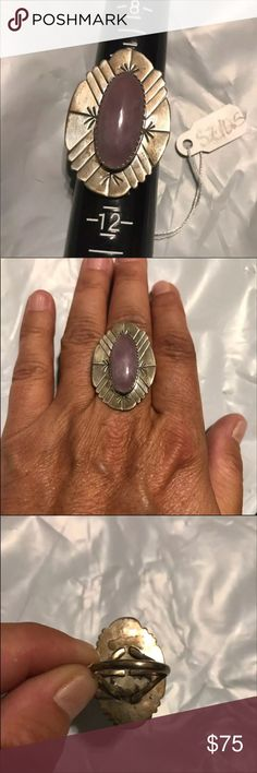 D. SPENCER STATEMENT RING D. SPENCER STATEMENT RING STERLING SILVER NATIVE AMERICAN RING SIZE 10.5 Has NOT been cleaned/polished SMOKE FREE BUT PET FRIENDLY HOME Jewelry Rings