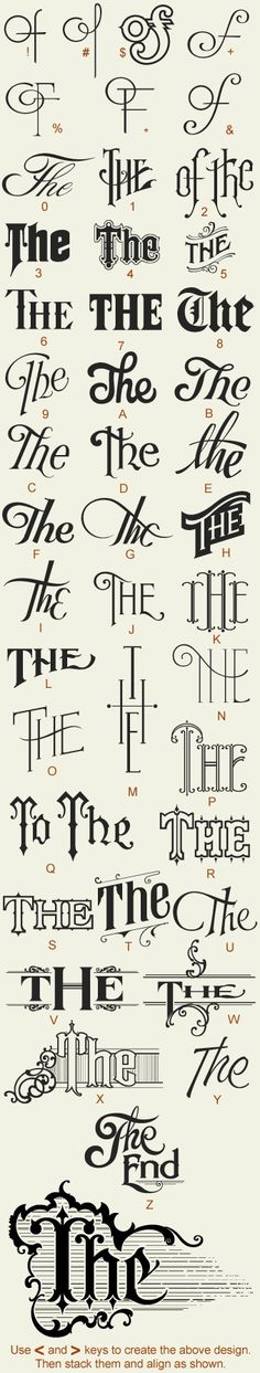 Tattoo fonts... wish they had names for these fonts labelled