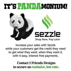 16 years specializing in developing Boutique websites allows us to give OUR CLIENTS special offers on needing services like Sezzle Credit. Why pay more?   Use our referral coupon code { SZPQRA } and get 30 days free, no monthly fee (ever), and an extra LOW LOW rate on Sezzle transactions.