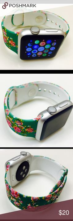 "Apple Watch Band Step Out in style with this Brand New Designer's Apple Watch Silicone Band 38mm (watch not included)  Bundle and save!!! ""Spring Floral"" Accessories Watches"