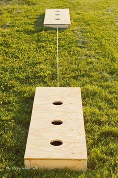 This awesome DIY Lawn Game is super easy to make and will last for years to come! Three Hole Washes Game is much cheaper to build than it is to buy and ship! Make your own today in time for all those fun summer parties!
