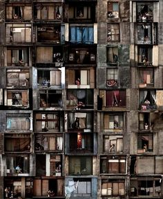"""In A Window of Prestes Maia 911 Building"" is a new photographic series from Brazilian photographer, Julio Bittencourt. This project is based on a series of windows and the people who live through them. Bittencourt grew up in São Paulo where he got used to people communicating across windows as family and friends lived on top of and next to each other."