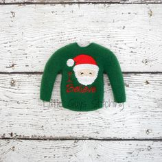 I Believe Sweater Elf Sweater Elf clothes by LittleGuysStitching