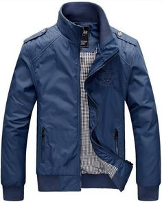 Navy Windcheater Military Style Jacket