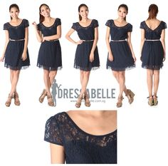 Summer Lace Dress in Navy