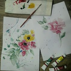 #watercolour#flowers#spring#colouroflife#peace