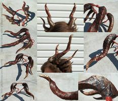 Dragon Horns by Quantum-Kid on DeviantArt Dragon Horns, Fire Basket, Dragon Costume, Larp, Cosplay, Deviantart, Halloween Ideas, Fairy Costumes, Kid