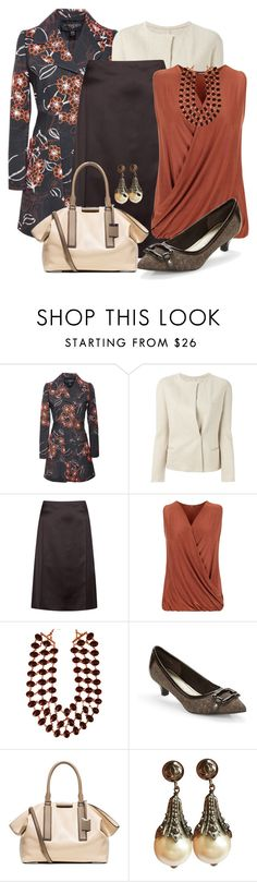 """""""Dark Floral Trench"""" by jennifernoriega ❤ liked on Polyvore featuring Giambattista Valli, Étoile Isabel Marant, Nina Ricci, WearAll, Amrita Singh, Anne Klein, Michael Kors and Chanel"""