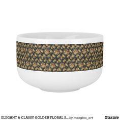ELEGANT & CLASSY GOLDEN FLORAL SOUP MUG