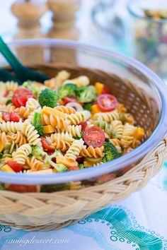 Easy Pasta Salad with Zesty Italian Viniagrette ~ from Saving Room for Dessert