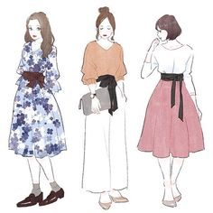 イラスト描かせていただきました。 話題の「サッシュベルト」どう使う?コーディネートから、選び方まで教えます☆ https://moteco-web.jp/?p=53977 #ファッション #fashion #コーデ #コーディネート #art #draw #illustration #illust #illustrator #イラスト