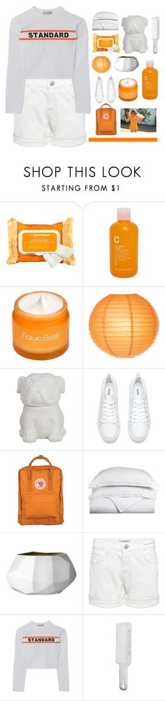 """back from break! +vacation pictures"" by thunderingwaves ❤ liked on Polyvore featuring Ole Henriksen, Modern Organic Products, Natura Bissé, Threshold, Fjällräven, Luxor Treasures, Bloomingville, Current/Elliott and Andis"