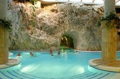 Thermal Spa Cave Bath in Miskolctapolca, Hungary.