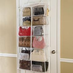Over Door Purse Organizer @ Fresh Finds   This Is Just What I Need!