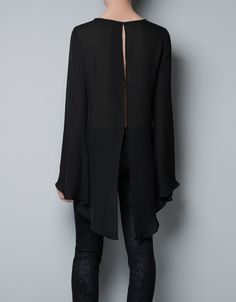 This is kinda hot- I can't pull it off but still hot!    OPEN BACK STUDIO BLOUSE - Shirts - Woman - ZARA