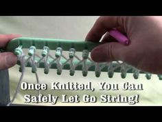 Loom Knit - How to do double knit stitches on the long loom