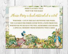 Peter Rabbit Baby Shower Book Request Baby Shower Book