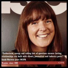 Sarah Morvern-Jones - CIPR Member since 1999