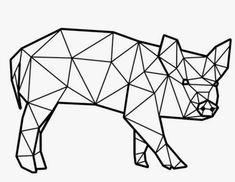 Diy Art, Origami, Colouring In, Pintura, Drawings, Geometry, Origami Paper, Origami Art, Diy Artwork
