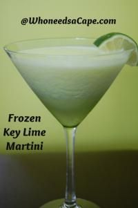 Frozen Key Lime Martini on MyRecipeMagic.com o I froze it. It's good, it's real real good!