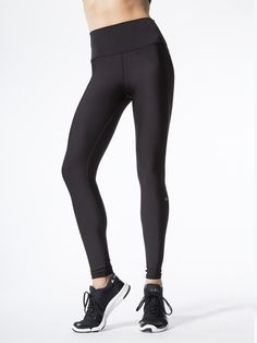 High-waist Tech Lift Airbrush Leggings in Black by Alo Yoga from Carbon38
