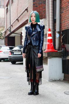 love the slightly native print skirt w/ the gareth pugh-style jacket