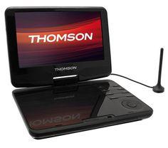 Der DP 910 hat eine Laufzeit von bis zu 2 Std. und 30 Min. und besitzt einen USB-Port und einen SD-Kartenslot, um direkt externe, kompatible Inhalte wiederzugeben.  Der tragbare DVD-Player Thomson DP910 ist mit einem DVB-T-Tuner versehen und bietet Zugang zu digitalen Fernsehsendern.
