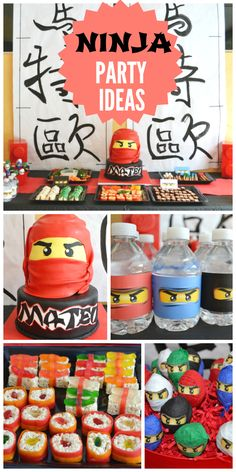 A ninja party is such a fun and active theme for a boy birthday! See more party ideas at CatchMyParty.com!