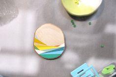 Sunset Landscape geometric VII- Pendant or brooch. €15.00, via Etsy.