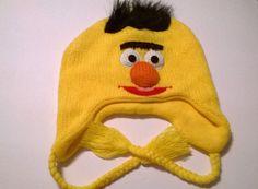 be2625daa2c64 Sesame Street Bert HAT CAP Knit Winter Ski HAT New Beanie Skullcap Cosplay  HAT  SesameStreet