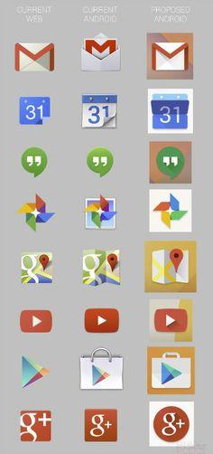 Google geeft app-iconen Android een nieuwe hippe look | B R I G H T