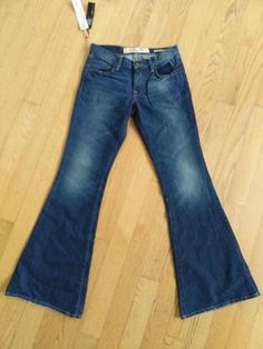 bbba7789 New York and Company Women's Jeans Flare Average Denim Size Blue Cotton  Spandex In Excellent Condition Measurements taken laying flat Waist: Rise:  Hips: ...