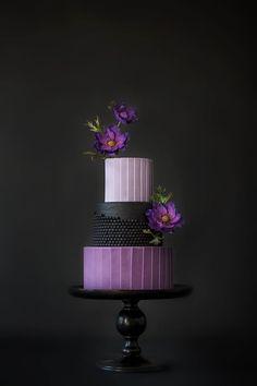 Purple Wedding Cake | Moody Wedding Cake