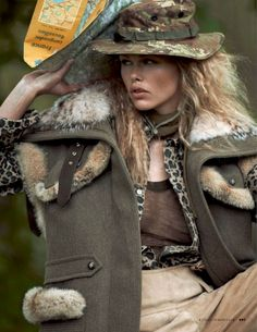 tendenze camouflage: emma stern nielsen and maritza veer by cedric buchet for vogue italia