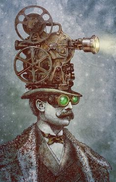 Featured Artist: Eric Fan on Surreal Steampunk and Self-Promotion Chat Steampunk, Steampunk Drawing, Steampunk Kunst, Steampunk Artwork, Fantasy Kunst, Fantasy Art, Fantasy Images, Wassily Kandinsky, Arte Yin Yang