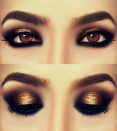 Makeup Ideas Dramatic Eye Makeup With Gold Eyeshadow Dramatic Eye Makeup for Certain Performance