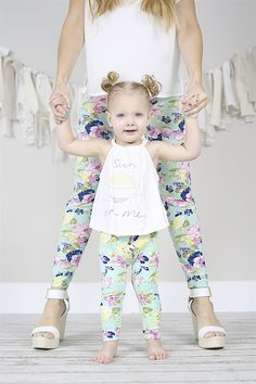 Every child would LOVE to match their mommy! Now you can even match your baby! These darling leggings are super soft and stretchy which allows them to fit so long. Goes up to size 14!