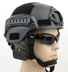 Mich 2000 Cheap airsoft helmet with Rail BK