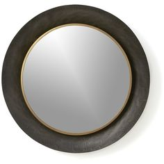 Crate & Barrel Dish Wall Mirror found on Polyvore featuring polyvore, home, home decor, mirrors, round framed mirrors, metal framed mirrors, wall mirrors, framed wall mirrors and metal dishes