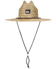 69534faad4a Quiksilver Men s Pierside Slim Straw Hat - Tan Beige S M Mens Straw Hats