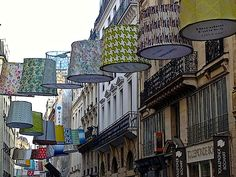 Rue du Mail Paris lantern installation during Paris Deco Off