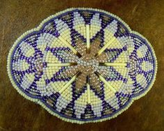 Beautiful Native American Lakota Sioux beaded porcupine quill belt buckle #Unbranded