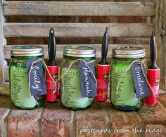 College Survival Kit in a Mason Jar! - What do you do when have a child who, along with many of her friends, is going off to college? Make them a college surviv…