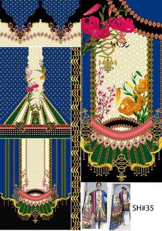Border Embroidery Designs, Lehenga Collection, Design Seeds, Tribal Art, Pattern Art, Textile Design, Baroque, Folk Art, Digital Prints
