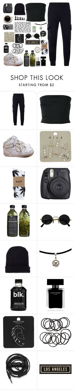 """""""Sem título #737"""" by myllenagrigori ❤ liked on Polyvore featuring Champion, Balmain, NIKE, Miss Selfridge, HUF, Fuji, Missguided, Nails Inc., Narciso Rodriguez and Topshop"""