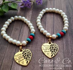 Mother and Daughter bracelet set. Available: www.caroyco.etsy.com