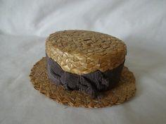 Antique Dolls Straw Boater Hat