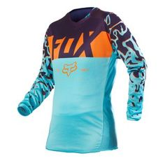 2016 Fox Racing Womens 180 Jersey-Aqua-XS  New Fit for the new women s 180  has been reengineered with a new body conscious women s specific fit. 89a6a9864