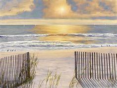 Beach Light by Diane Romanello - Canvas Print at DianeRomanello.com