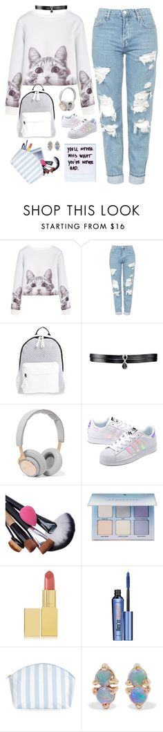 """Untitled #80"" by biinabnab ❤ liked on Polyvore featuring Topshop, Poverty Flats, Fallon, B&O Play, adidas Originals, Anastasia Beverly Hills, AERIN, Benefit, Catherine & Jean and WWAKE"